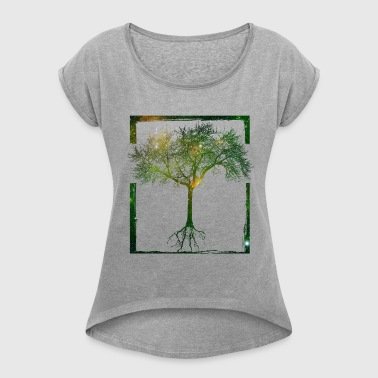 Mother Nature - Frame 04 - Women's T-shirt with rolled up sleeves