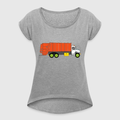 garbage collection - Women's T-shirt with rolled up sleeves
