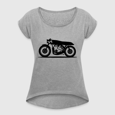 motorcycle - Women's T-shirt with rolled up sleeves