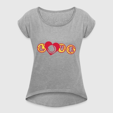 tennis love heart heart capsule 7 - Women's T-shirt with rolled up sleeves