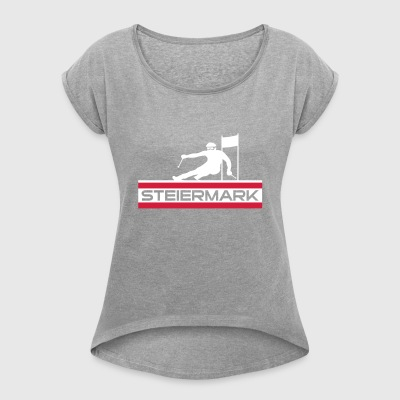 Ski Alpin_Steiermark - Women's T-shirt with rolled up sleeves