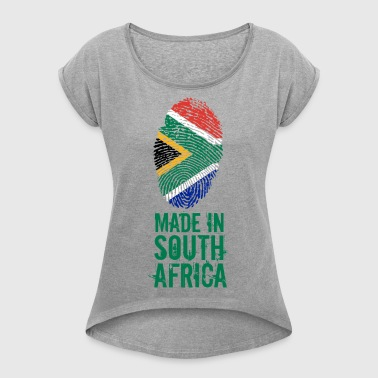 Made In South Africa / Südafrika - Frauen T-Shirt mit gerollten Ärmeln