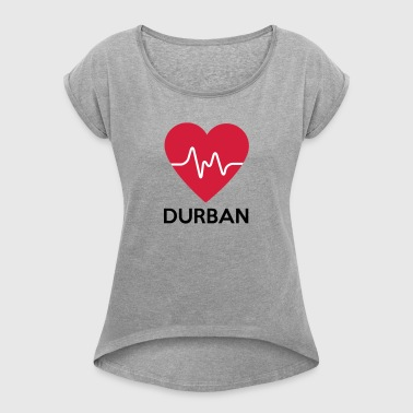 heart Durban - Women's T-shirt with rolled up sleeves