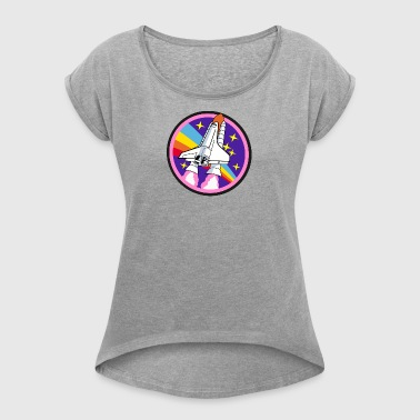 Space Shuttle - Women's T-shirt with rolled up sleeves