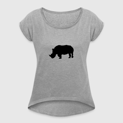 Rhino - Women's T-shirt with rolled up sleeves