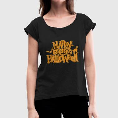 112 Halloween 112 - Women's T-Shirt with rolled up sleeves