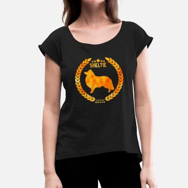 Copper Sheltie Copper Army - Women's T-Shirt with rolled up sleeves