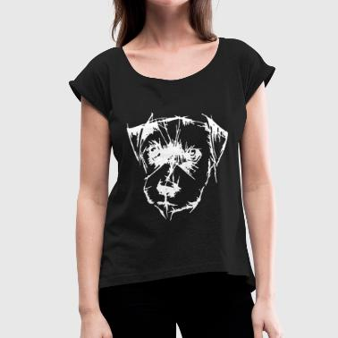 Dog Head Dog head - Women's T-Shirt with rolled up sleeves