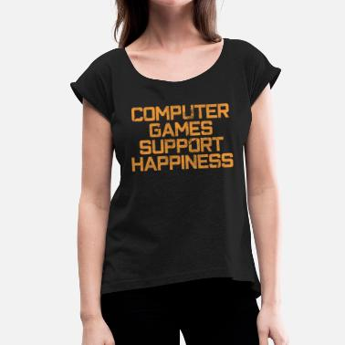 Computer Game computer Games - Women's T-Shirt with rolled up sleeves