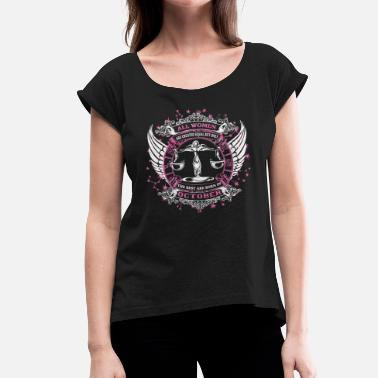 October Girls Libra October - Women's T-Shirt with rolled up sleeves
