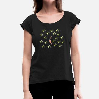 Night Sky The Night Sky - Women's T-Shirt with rolled up sleeves