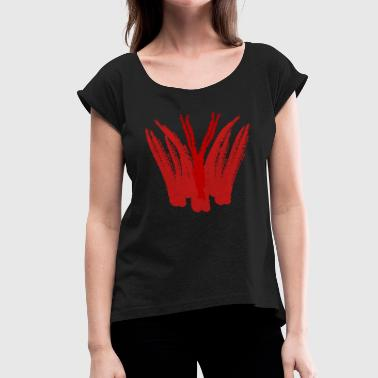 Devil Female Devil. - Women's T-Shirt with rolled up sleeves