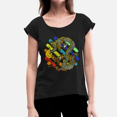 Mythical Creatures mythical creatures - Women's T-Shirt with rolled up sleeves