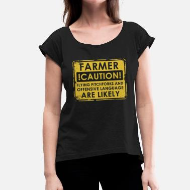 Pitchfork Farmers pitchforks - Women's T-Shirt with rolled up sleeves