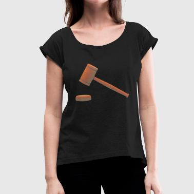 Lawyer Lawyer Judge Judge Law Justi - Women's T-Shirt with rolled up sleeves