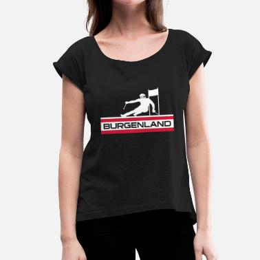 Giant Slalom Ski Alpin_Burgenland - Women's T-Shirt with rolled up sleeves