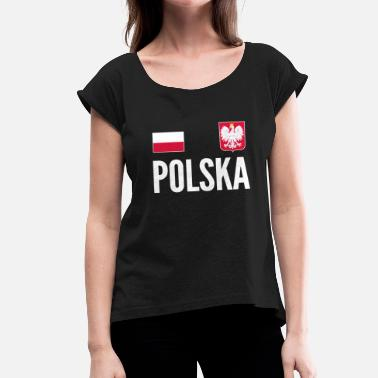Soccer Jersey Poland Soccer Jersey - Women's T-Shirt with rolled up sleeves