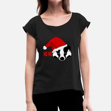 Christmas Badger Honey badger honey badger Christmas gift - Women's T-Shirt with rolled up sleeves
