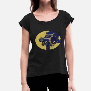 Telescope telescope - Women's T-Shirt with rolled up sleeves