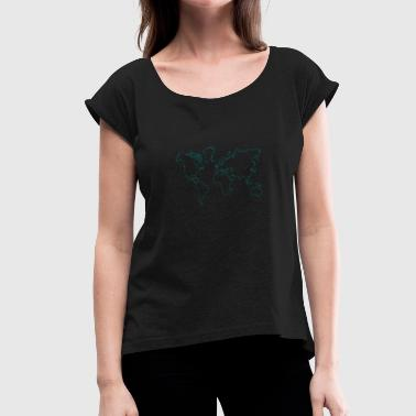 map - Women's T-Shirt with rolled up sleeves