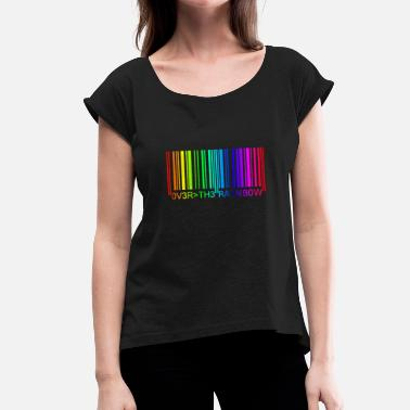 Rainbow Barcode Barcode Rainbow 2 - Women's T-Shirt with rolled up sleeves