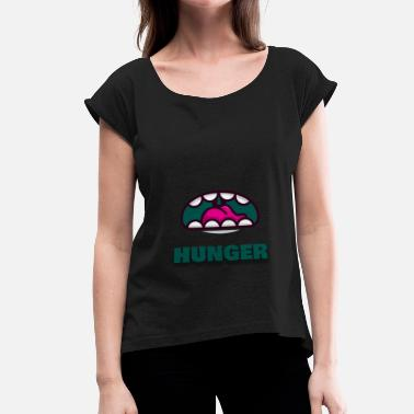 Hunger HUNGER - Women's T-Shirt with rolled up sleeves