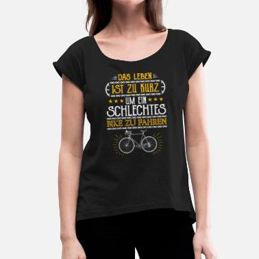 Road Bicycle Bicycle, Bicycle, Road Bike, Bicycle Chain, Bike - Women's T-Shirt with rolled up sleeves