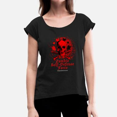Self-defense Zombie Self-Defense Force - Women's T-Shirt with rolled up sleeves