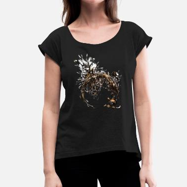 Dark Matter Dark matter - Women's T-Shirt with rolled up sleeves