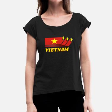 Southeast Asia Vietnam Southeast Asia Asia Flag Gift - Women's T-Shirt with rolled up sleeves