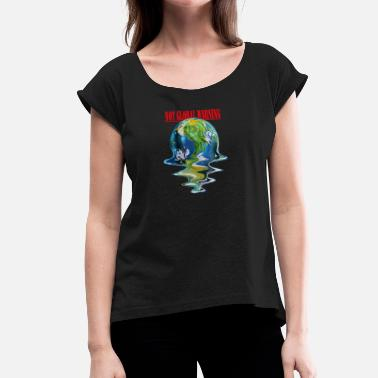 Planeteer PLANET - Women's T-Shirt with rolled up sleeves