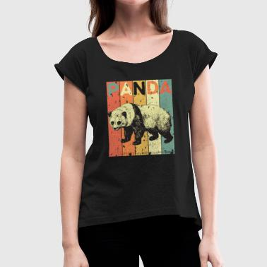 Panda's Panda - Women's T-Shirt with rolled up sleeves