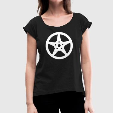 Car Tires Rim car tires - Women's T-Shirt with rolled up sleeves