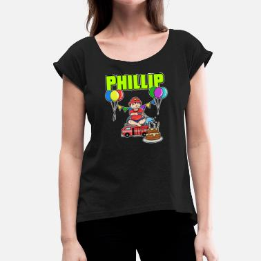 Phillip Phillips Fire Department Phillip gift - Women's T-Shirt with rolled up sleeves