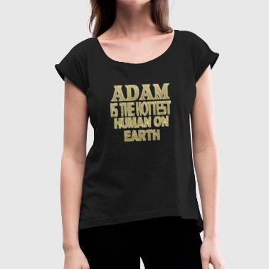 Adam - Women's T-Shirt with rolled up sleeves