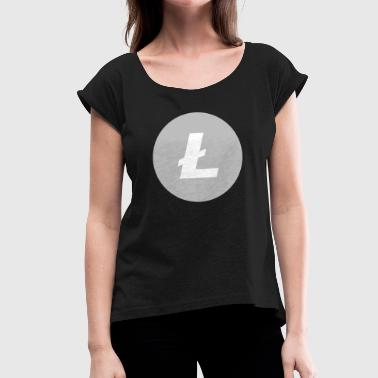 Original Litecoin symbol - Women's T-Shirt with rolled up sleeves