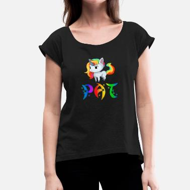 Pat Unicorn Pat - Women's Rolled Sleeve T-Shirt