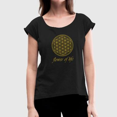 Flower of Life Naturopath T-shirt - Women's T-Shirt with rolled up sleeves