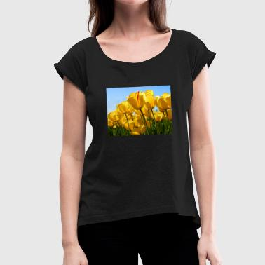 Tulip Tulips - Women's T-Shirt with rolled up sleeves