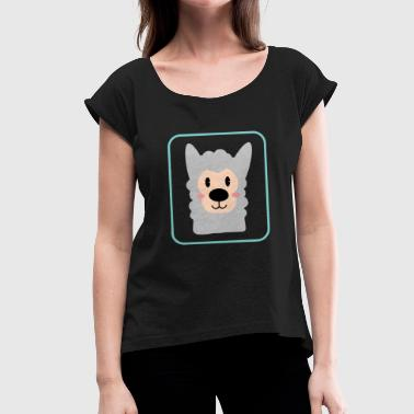 Alpacas alpaca - Women's T-Shirt with rolled up sleeves