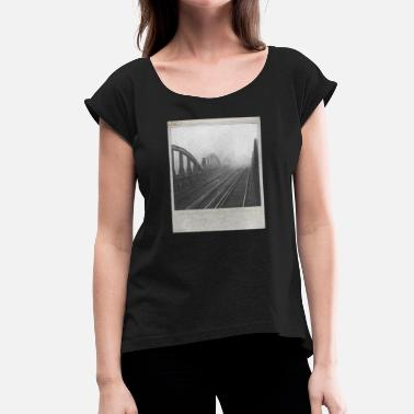 Polaroid POLAROID - Women's T-Shirt with rolled up sleeves