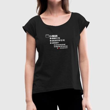 Student brain folder - Women's T-Shirt with rolled up sleeves
