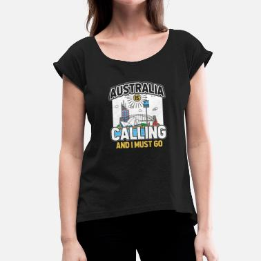Funny Australia Australia - Women's T-Shirt with rolled up sleeves
