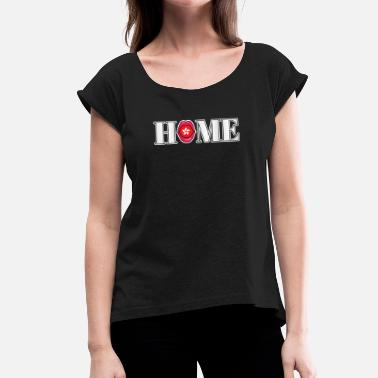 Hong Kong Hong Kong Home gift - Women's T-Shirt with rolled up sleeves