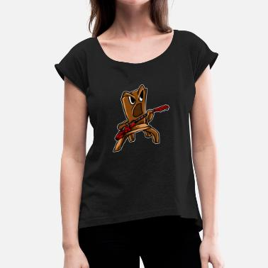 Rocking Chair Rocking Chair Funny Musician Player Music Guitaris - Women's T-Shirt with rolled up sleeves