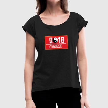 Yin Yang | chinese medicine | qigong | 2018 - Women's T-Shirt with rolled up sleeves