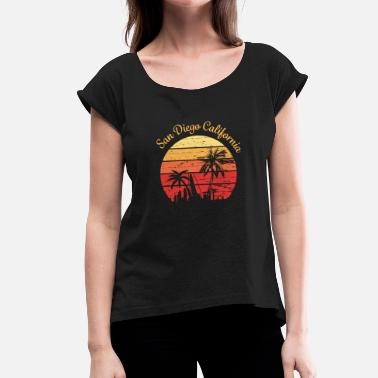 Diego San Diego California Design - Women's T-Shirt with rolled up sleeves