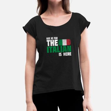 Milan Italy flag flag gift gift idea - Women's T-Shirt with rolled up sleeves
