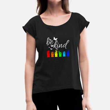 Languages ASL Sign Language Sign Language - Women's T-Shirt with rolled up sleeves
