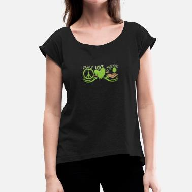Horticulture Peace Love Gardening Horticulture - Women's T-Shirt with rolled up sleeves